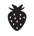 Strawberry icon on white background flat style