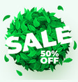 summer or spring sale background with fresh green vector image vector image