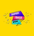 super sale 3d sale banner with text sale vector image vector image