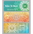 thai calligraphic design gift card bonus card vector image vector image