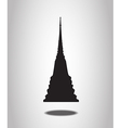 Thai Temple Silhouettes on the white background vector image vector image