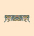 totemic owl in flight mayan graphic vector image