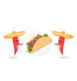 traditional mexican food restaurant advertising vector image