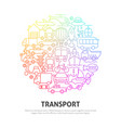 transport circle concept vector image vector image