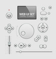 Web UI Elements Design Gray vector image vector image