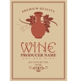 wine labels with jug clay vector image vector image