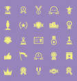 winner color icons on violet background vector image vector image