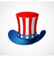 American Independence Day Holiday hat vector image