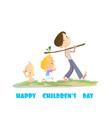 digital happy children day card vector image
