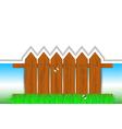 Fence frame vector image