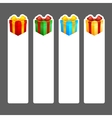 Square gift stickers vector image