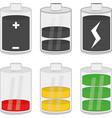 a battery charging devices vector image vector image