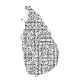 abstract schematic map of sri lanka from the vector image vector image