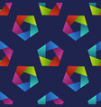 Abstract seamless pattern with colorful pentagons