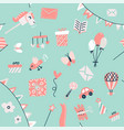 baby goods seamless pattern with toys gifts vector image