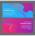 banner background design colored modern abstract vector image vector image