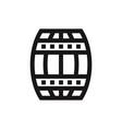 barrel icon vector image vector image