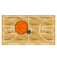Basketball field and ball Game of basketball vector image vector image