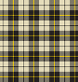 black and beige fabric texture pattern seamless vector image vector image