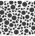 black seamless pattern image vector image vector image