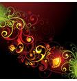 bright floral design vector image vector image