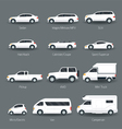 Car Type and Model Objects icons Set vector image vector image