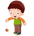 Cartoon boy playing yo-yo vector image vector image