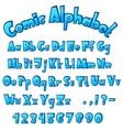 Cartoon stone cracked font vector image vector image