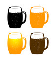 colorful beer mug vector image vector image