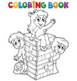 coloring book kids theme 4 vector image vector image