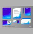 corporate identity template for investment company vector image
