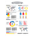 Detail info graphic with statistic data vector image vector image