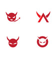 devil horn icon vector image