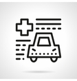 Driver insurance abstract line icon vector image