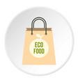 eco food paper bag icon circle