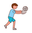 ethlete practicing volleyball avatar vector image vector image