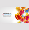 explosion of presents light background with vector image vector image