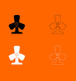 fan black and white set icon vector image