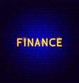 finance neon text vector image
