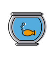 fish in bowl vector image vector image