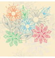 flower motive vector image vector image
