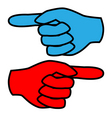 forefinger vector image vector image