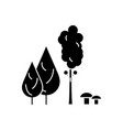 forest trees black icon concept forest trees vector image
