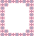 Frame blue pink patterns on canvas vector image