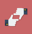 Frame of fingers or hands Flat style vector image vector image