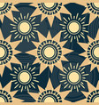 geometric sun pattern vector image vector image