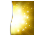 Golden New Year Card vector image