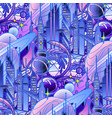 graphic pattern of futuristic city vector image vector image