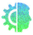 halftone blue-green android robotics icon vector image