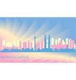 Kuala Lumpur city skyline vector image vector image